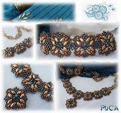 "Schéma+...Bracelet+et+collier+++""Rani""+van+Les+perles+de+Puca+op+DaWanda.com"