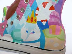 Adventure Time Converse - The land of Ooo: In progress