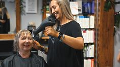 Hair dresser drying hair and laughing Creative Video, Video Capture, Content Marketing Strategy, Video Editing, Moving Forward, Videography, Hairdresser, Laughing, Commercial