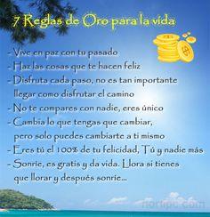 #FrasesMotivadoras 7 Reglas de Oro para la vida