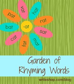 Garden of Rhyming Words | #rhyme and #homophone activities for grades K-3