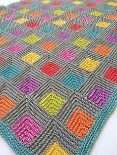 Squares in squares blanket