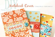 DIY Notebook-Cover with buttons and fabric - by Tabula Rosi