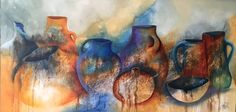Vases, Painting, Pintura, Art, Horses, Abstract, Dogs, Pottery, Painting Art