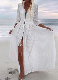 Shop Floryday for affordable Boho Dresses. Floryday offers latest ladies' Boho Dresses collections to fit every occasion. Vacation Dresses, Beach Dresses, 15 Dresses, Cotton Dresses, Summer Dresses, Dress Beach, Fashion Dresses, Long White Beach Dress, Wedding Dresses