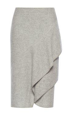 Wool Tiered Skirt  by ALBERTA FERRETTI for Preorder on Moda Operandi