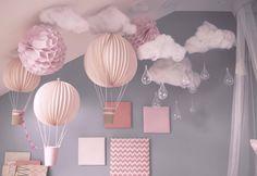Idée de décoration avec des ballons pour la chambre bébé