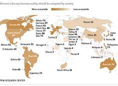 Según PewResearch: 51% de los venezolanos acepta la homosexualidad