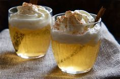 Apple Snowball..The perfect drink to warm you, as it is served slightly warm & laced with spiced rum!