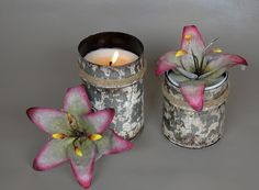 Water-Lily Scented Candle!! Handmade Tin Hand-Poured Using All Natural Soy Wax. Available in 14oz and 9oz.