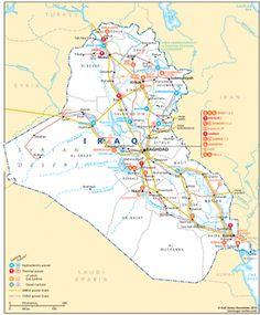 CbI - Cross-border Information - Gulf States Newsletter - Power infrastructure in Iraq map