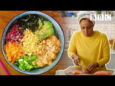 How to make a Salmon Poke Bowl in 15 minutes! Nadiya Hussain Recipes, Salmon Poke Bowl Recipe, Time To Eat, Quick Meals, Healthy Recipes, Bbc Recipes, Keto Recipes, Seafood Recipes, Food Hacks