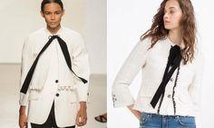 Left: Proenza Schouler spring 2016 runway jacket, $2,450. Right: Zara, $149..