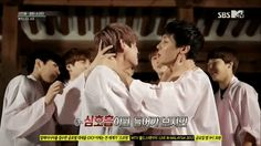 BTS A.R.M.Y. Rookie King (2013) (Episode 4) V's &  J-Hope's face though XD (I made this gif)