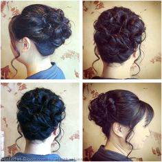 By Heather Linn. Bridesmaid Updo * want it to look loose but not feel loose? Twist a few strands on the side to give it a less super sleek look and more flow to the updo.  @bloomdotcom
