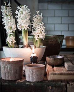 Nu blommar dom för fullt här hemma o sprider en julig doft i hela huset💙 #hyacint #kök #jul