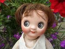 googly eyed doll antique heubach