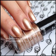 Revlon Gel Envy Double Down 2014. Click thru to imabeautygeek.com for more Gel Envy Swatches!