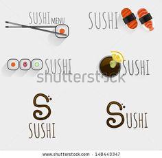 Sushi logo - stock vector
