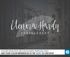 Cursive Photography Logo with Handdrawn Feather by dreaminreality