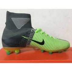 sports shoes b987e f8892 Beste Nike Mercurial Superfly V AG Gul Gronn Gra Online Herre Fotballsko  -Salg Nike Mercurial