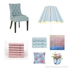 Home Decor With Pair Chair, Wall Light, Turkish Cotton Bath Towel And Christy Bath Towel