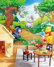 Pooh's Wall Mural - so sweet! http://www.muralsforkids.com/products/Winnie-The-Pooh-Garden-Wall-Mural.html