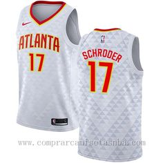 Nike blanco Dennis Schroder Atlanta Hawks 2018 Marca  nike Equipos  Atlanta  Hawks Jugador  Dennis Schroder Adecuado para  Hombre Estilo  camisetas nba  2017 ... 4b68640bf20