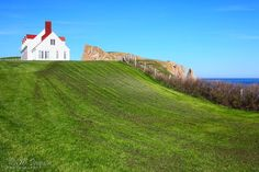 Rocher percé and the white house Gaspé  by HPaquinPhotography, $20.00