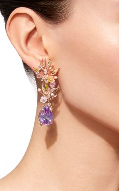Posie Lilac Earrings by ANABELA CHAN for Preorder on Moda Operandi