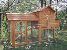 The Tavern Backyard Chicken Coop Hen House Rabbit Hutch Wood Small Animal Cage