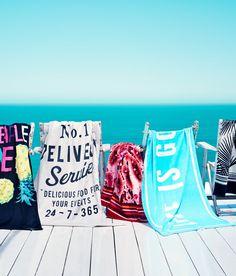 Stylish beach towels. #HMHome