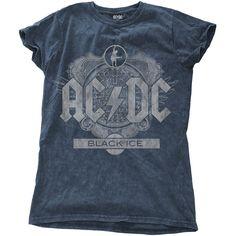 AC/DC - Black Ice (Snow Washed - Denim Blue) (Ladies)