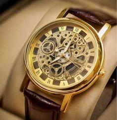 13da00f8056c Cypher Golden Round Dial Brown Leather Strap Quartz Men s Watch