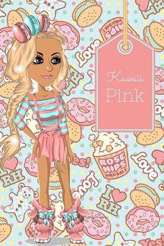 MovieStarPlanet Outfit Name: Kawaii Pink