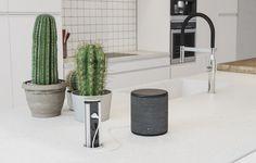 Tämä keittiö on moderni klassikko: puhtaat pinnat ja pelkistetyt linjat luovat tyylikkään tilan. Valkoisen Integra-keittiön älykkyydestä ja tyylikkyydestä kertoo kolme pistorasiaa sisältävä nerokas ratkaisu, jonka saa helposti esiin työtasolle tarvittaessa. Cactus Plants, Home, House, Cacti, Cactus, Homes, Houses