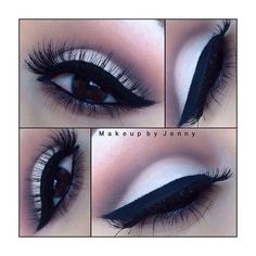 Eyeshadow: white shadow on lower lid, gray on crease, heavy black... ❤ liked on Polyvore featuring beauty products, makeup, eye makeup, eyeshadow, eyes, white eye shadow, grey eye shadow, mac eyeshadow and grey eyeshadow