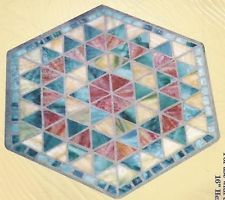 Stained Glass Stepping Stone | eBay Mosaic Glass, Stained Glass, Mosaic Designs, Mosaics, Stepping Stones, Yard, Patterns, Crafts, Diy