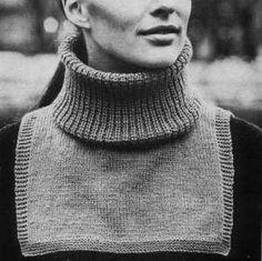 Fuskolle - Halsvärmare - Alternativ till en halsduk. Gratis mönster! Sewing Scarves, Knit Wrap, Loop Scarf, Baby Knitting Patterns, Neck Warmer, Crochet Yarn, Yarn Crafts, Free Pattern, Inspiration