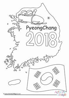 PyeongChang Winter Olympics 2018 colouring page Olympic Idea, Olympic Sports, Olympic Crafts, Kids Olympics, School Age Activities, Bobsleigh, Pyeongchang 2018 Winter Olympics, Olympic Gold Medals, Winter Olympic Games