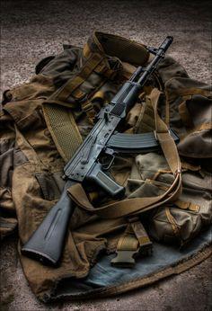 """""""In addition to two Bowie knives, Daniel carried a Kalashnikov, a handgun… Ak 47, Military Weapons, Weapons Guns, Guns And Ammo, Kalashnikov Rifle, Battle Rifle, Custom Guns, Cool Guns, Big Guns"""