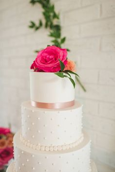 Cindy's Cakery // Buttercream pink and gold cake// Rustic Elegant wedding cake// The Girl Tyler Photography// Aleen Floral Design// Williamsburg Weddings