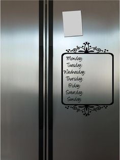 decorative way to plan your meals for the week