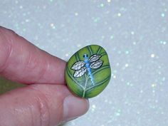 Leaf jewelry leaf ring stone blue dragonfly ooak painted rock art adjustable silver botanic costume statement jewelry gift ideas for her Pebble Painting, Pebble Art, Stone Painting, Rock Painting, Leaf Jewelry, Stone Jewelry, Dragonfly Jewelry, Rock Jewelry, Rock Rings