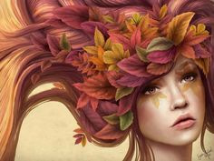 Autumn illustration by Sara Isabel Hoyos
