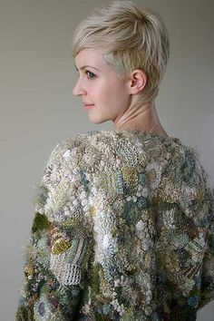 a Prudence Mapstone creation, freeform & traditional knitting and crochet ~ wearable art