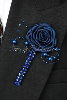Ruby Blooms is pleased to offer you Made to Order, Unique, Elegant and Stylish Wedding Boutonnieres - Designed for Groom, Best man, Prom, Ring bearer and any member of Your Special Event Party! It is