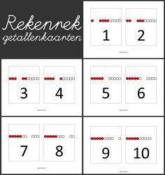 www.juf-lisanne.nl Rekenrek oefenkaarten om aan de muur te hangen, mee te flitsen, om te gebruiken bij sorteerwerkjes, etc.