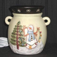 Scentsys FIRST holiday collection! Decorate the Tree warmer - 2004. Such a cute snowman!