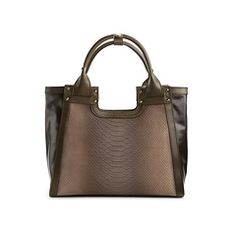 Charles Jourdan Blake II Leather & Suede Satchel